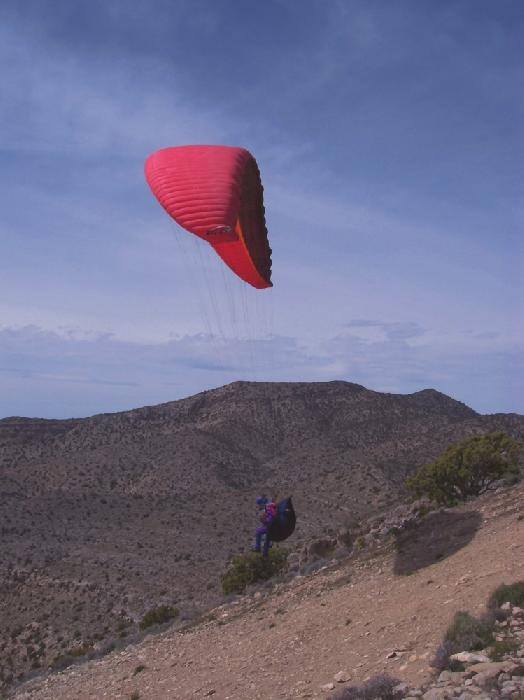 Paraglider Launches in Nevada