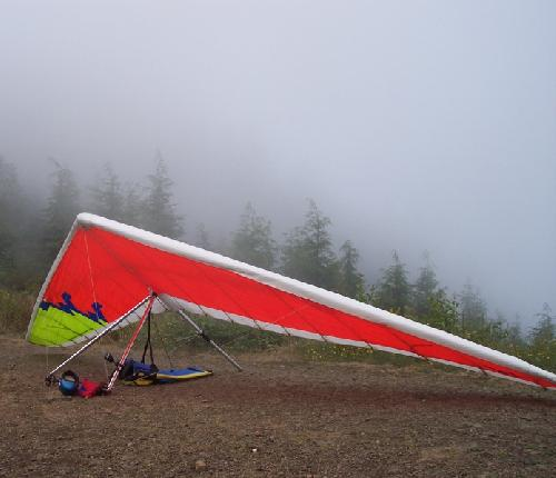 Fusion Hang Glider on Launch