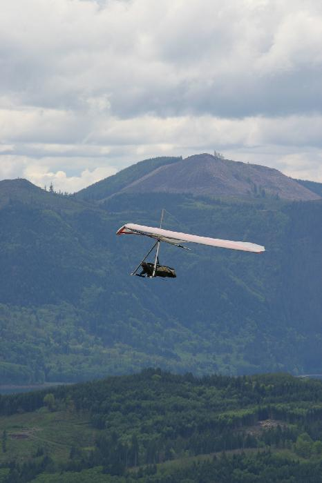 Hang Glider Pilot in Flight