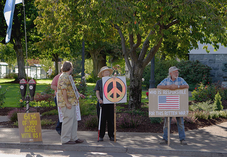 Corvallis Oregon War Protesters