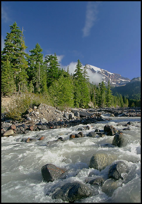 Mount Rainier and Stream